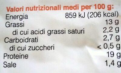 Filettini di tofu - Voedingswaarden