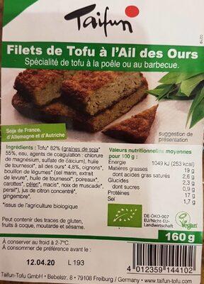 Filets de tofu à l'ail des ours - Product - es