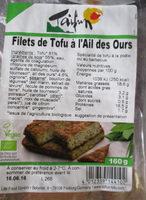 Filets de tofu à l'ail des ours - Produit - fr
