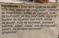 Filets de tofu à l'ail des ours - Ingrédients - fr