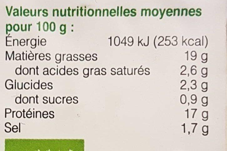 Filets de tofu à l'ail des ours - Voedingswaarden - es