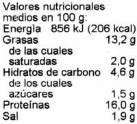 Tofu-Filets Pizza-Pizza - Información nutricional - es