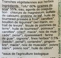 Rondo - Ingredients - fr