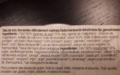 Feto Bio Tofu Korfu, 125 G - Ingrédients