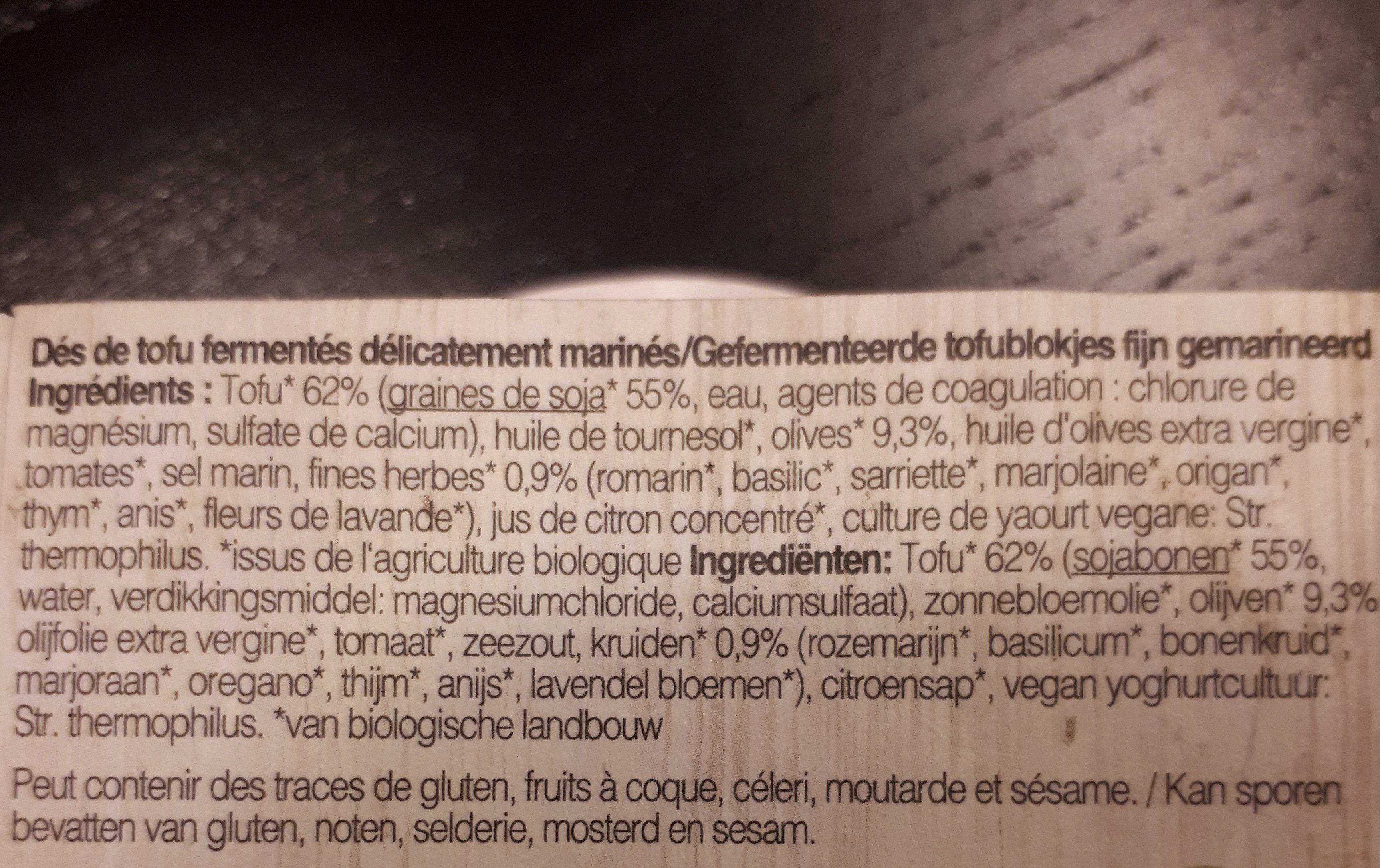 Feto Bio Tofu Korfu, 125 G - Ingrédients - fr