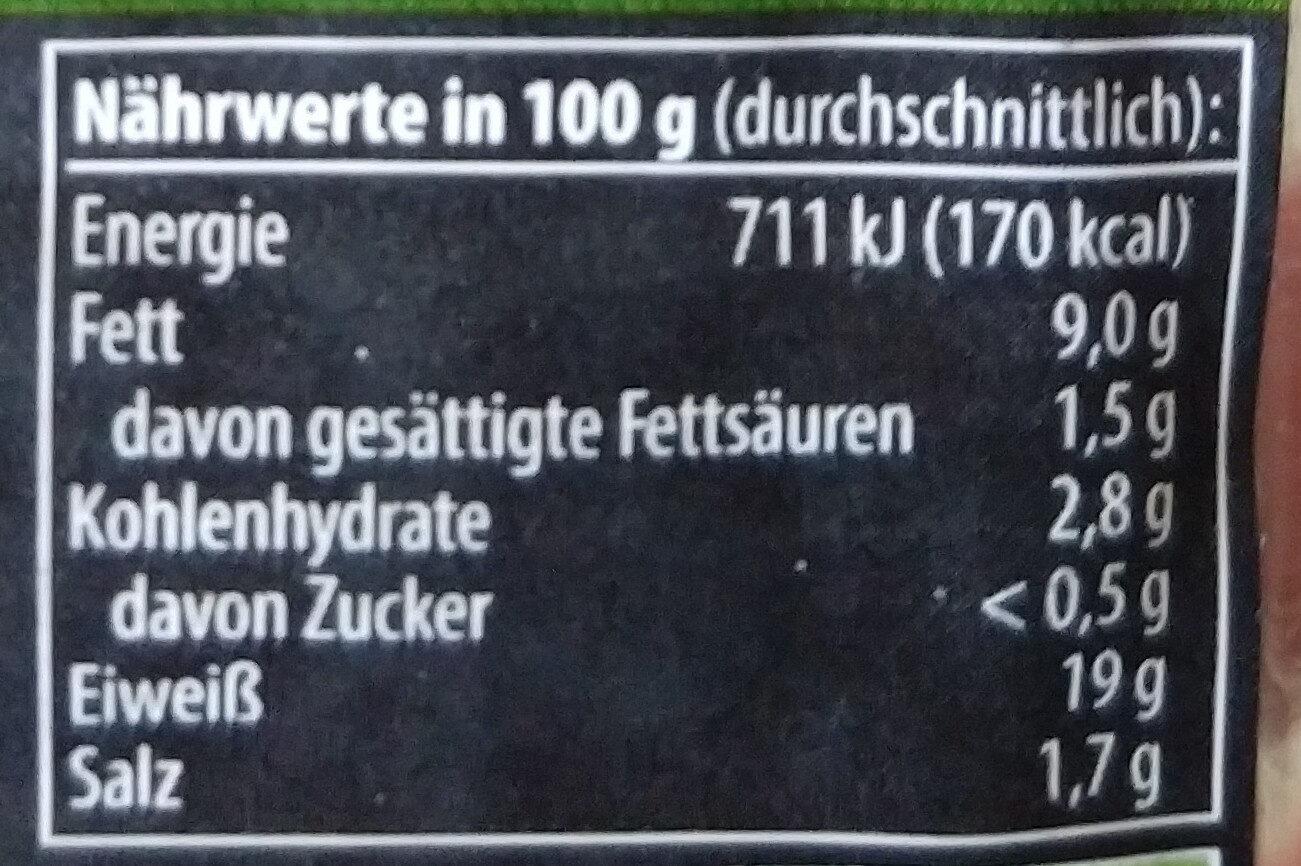Räuchertofu - Nutrition facts