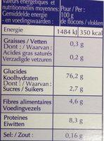 Purée de Pomme de Terre - Informations nutritionnelles - fr