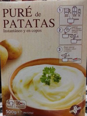 Puré de patatas instantáneo y en copos