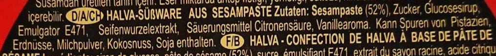 Halva - Ingredients - de
