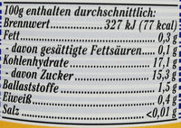 Waldheidelbeeren - Nutrition facts - de