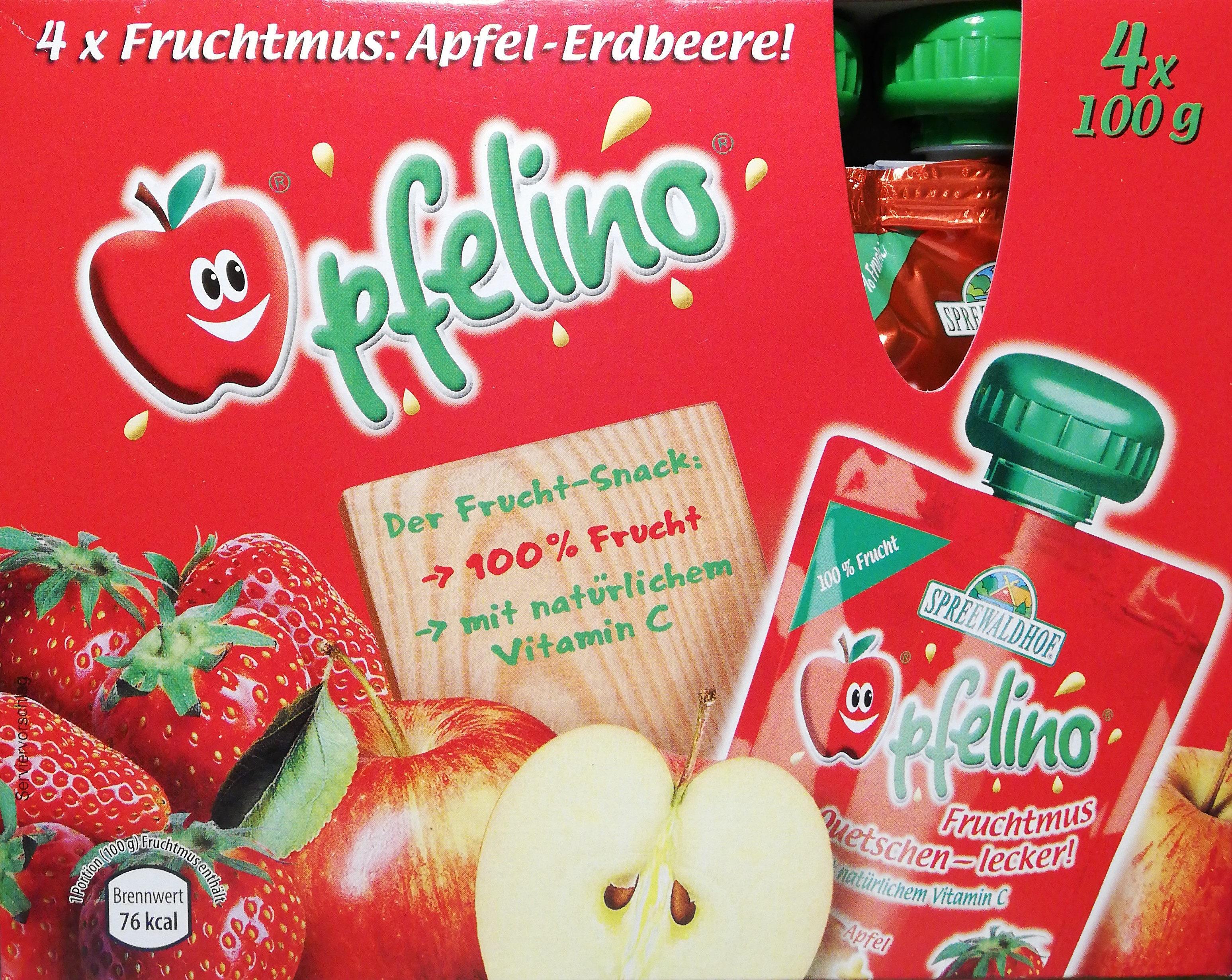 Fruchtmus Apfel-Erdbeere - Product