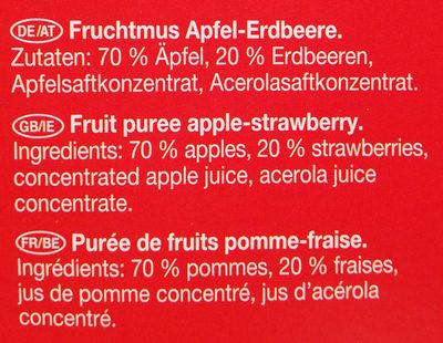 Fruchtmus Apfel-Erdbeere - Ingrediënten