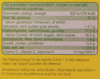 Fruchtmus Apfel-Banane - Nutrition facts - de