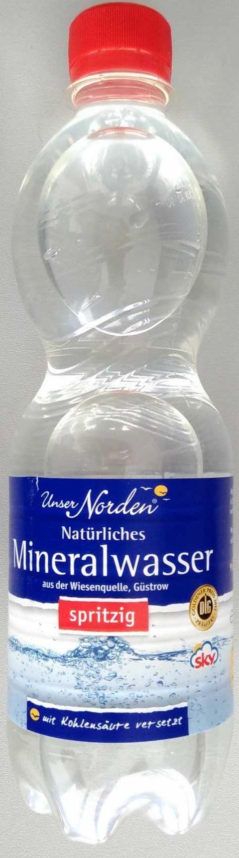 Natürliches Mineralwasser spritzig - Product - de