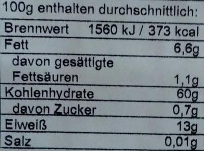 Haferflocken Kleinblatt - Voedingswaarden - de