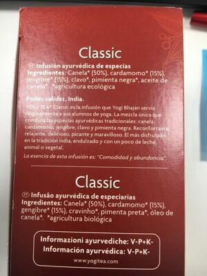 Classic - Ingredientes - es