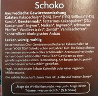 Yogi Tea Schoko, Aztec Spice - Ingrédients - fr