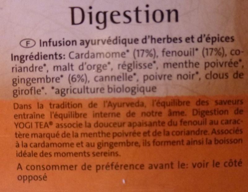 Digestion biologique - Ingredients - fr
