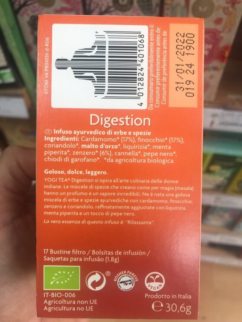Tisane digestion - Voedingswaarden - es