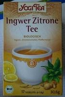 yogi tea gingembre citron - Produit