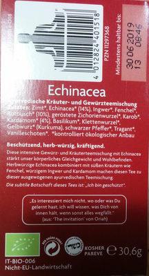 Echinacea - Ingrédients