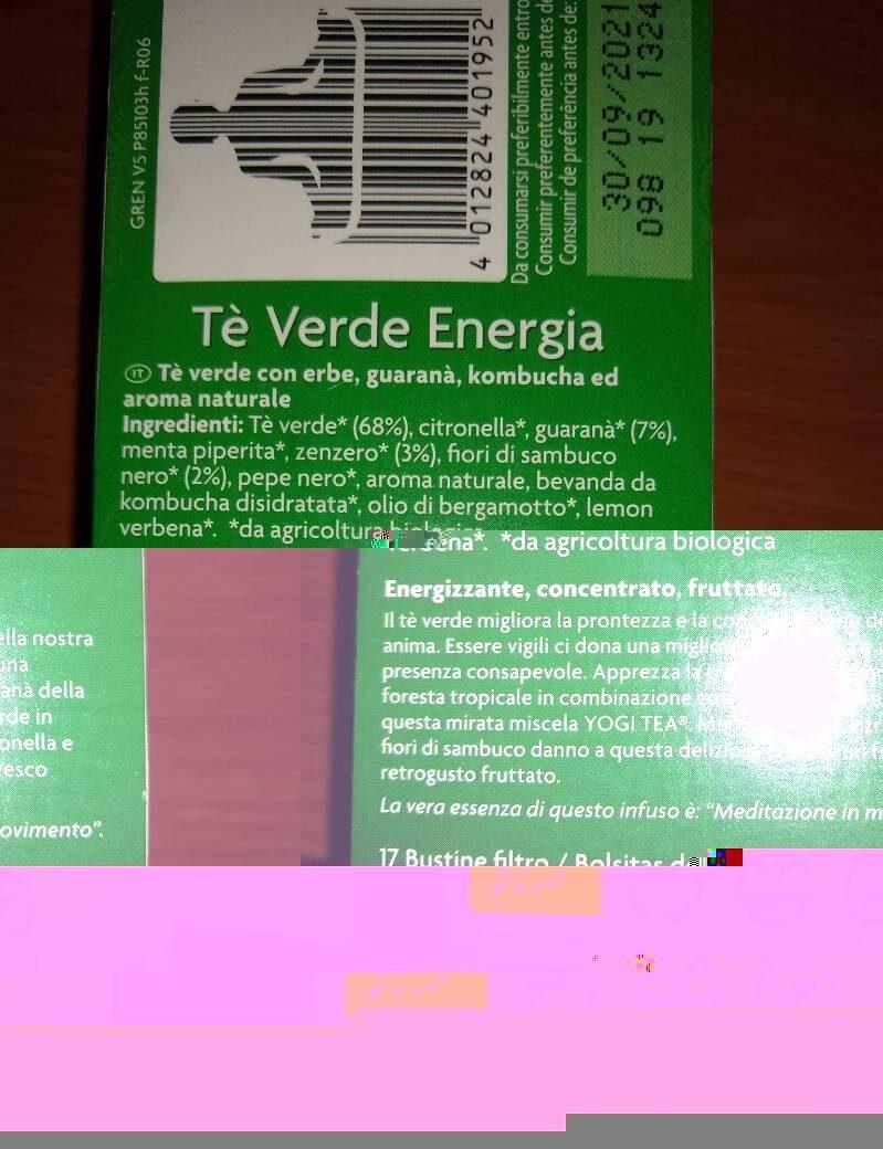Green Tea - Información nutricional