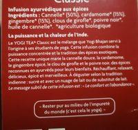 YOGI TEA CLASSIC - Ingrediënten