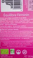 Equilibre Féminin - Ingrédients