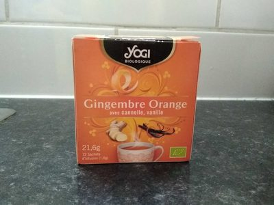 Infusion gingembre, orange, cannelle, vanille - Produit - fr