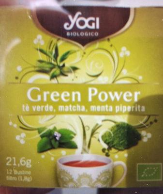 Matcha energía infusión de té verde, matcha y