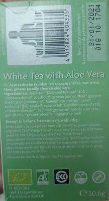 Thé Blanc à l'Aloe vera - Informations nutritionnelles - fr