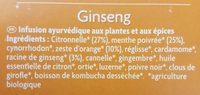 Ginseng - Ingrédients - fr