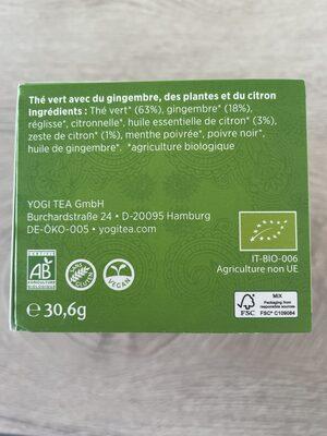 The vert gingembre citron - Ingrédients - fr