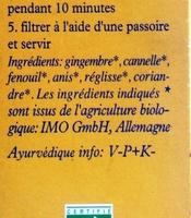 Himalaya - Ginger Harmony - Ingrediënten - fr