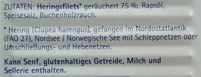 Bücklingsfilet in feinem Rapsöl und eigenem Saft - Ingredients - de
