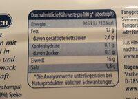Inselhäppchen - Valori nutrizionali - de