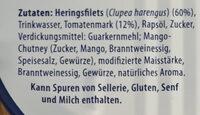 Heringsfilets in Tomatencreme - Ingrédients - de