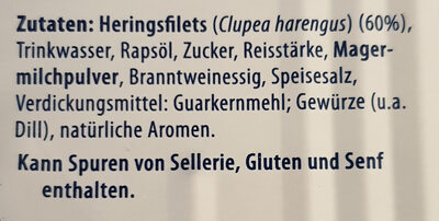 Heringsfilets in Dill-Kräuter-Creme - Zutaten - de
