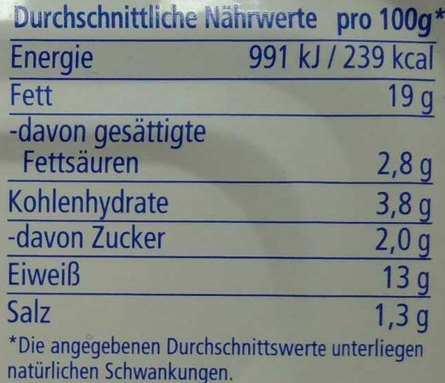 Heringsfilet in Tomaten-Paprika-Creme - Nutrition facts - de