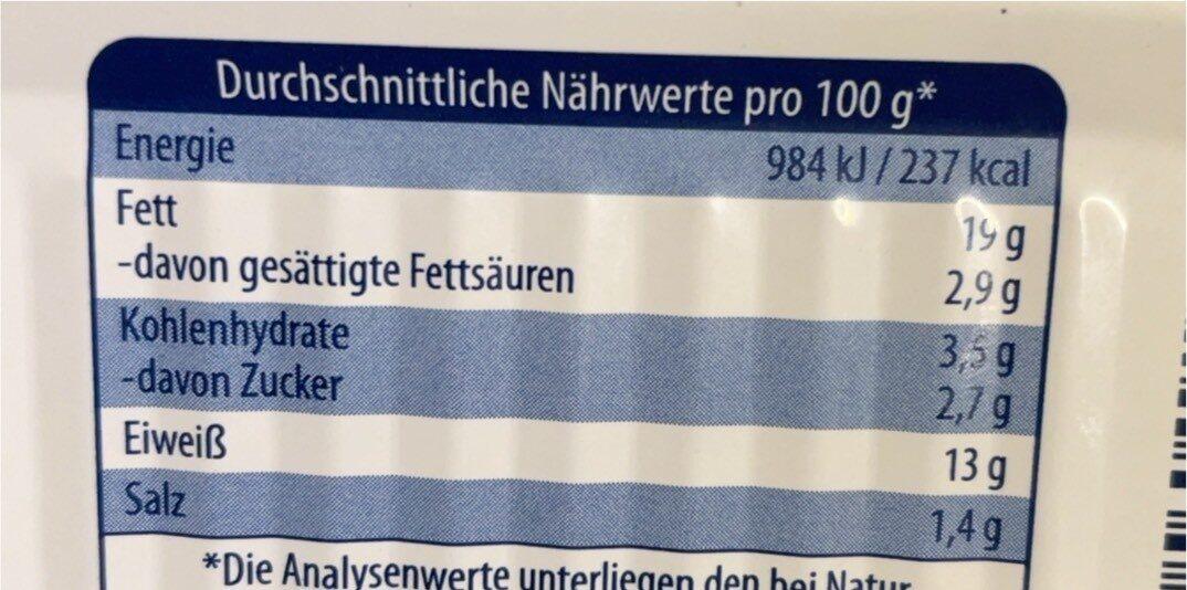Heringfilets in Champignon Creme - Informations nutritionnelles - de