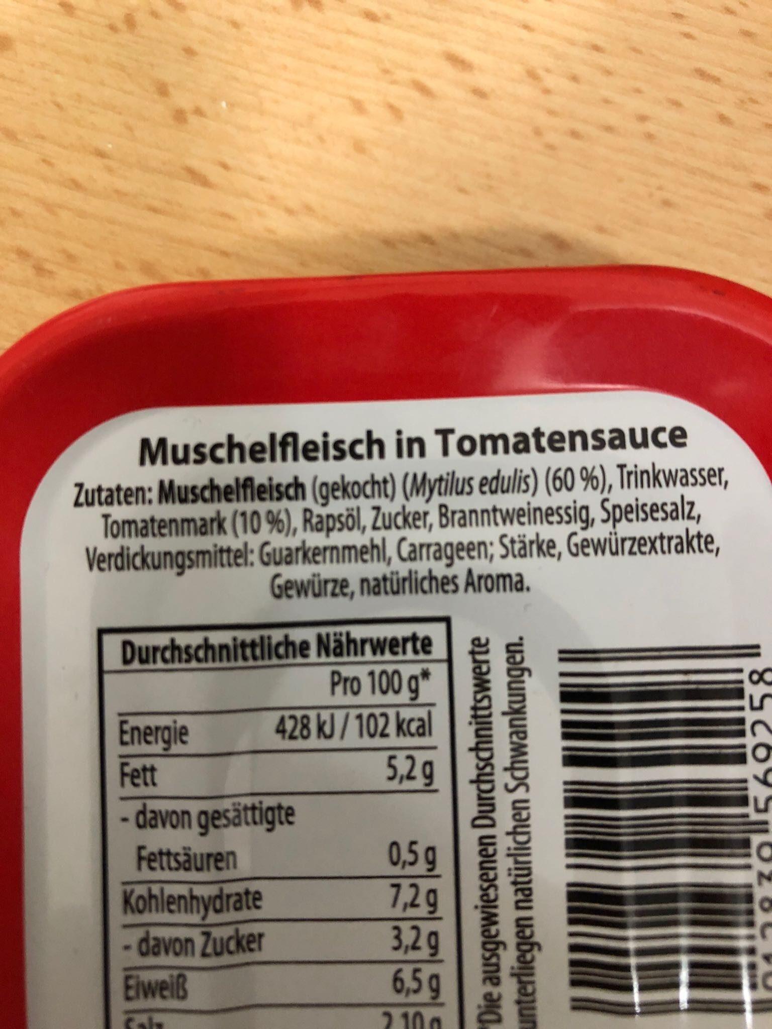 Muscheln in tomatensauce - Zutaten - de