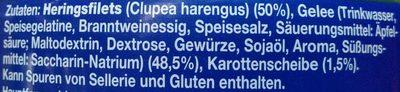 Heringsfilets in würzigem Gelee - Ingredients - de