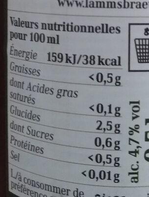 EdelPils - Voedingswaarden
