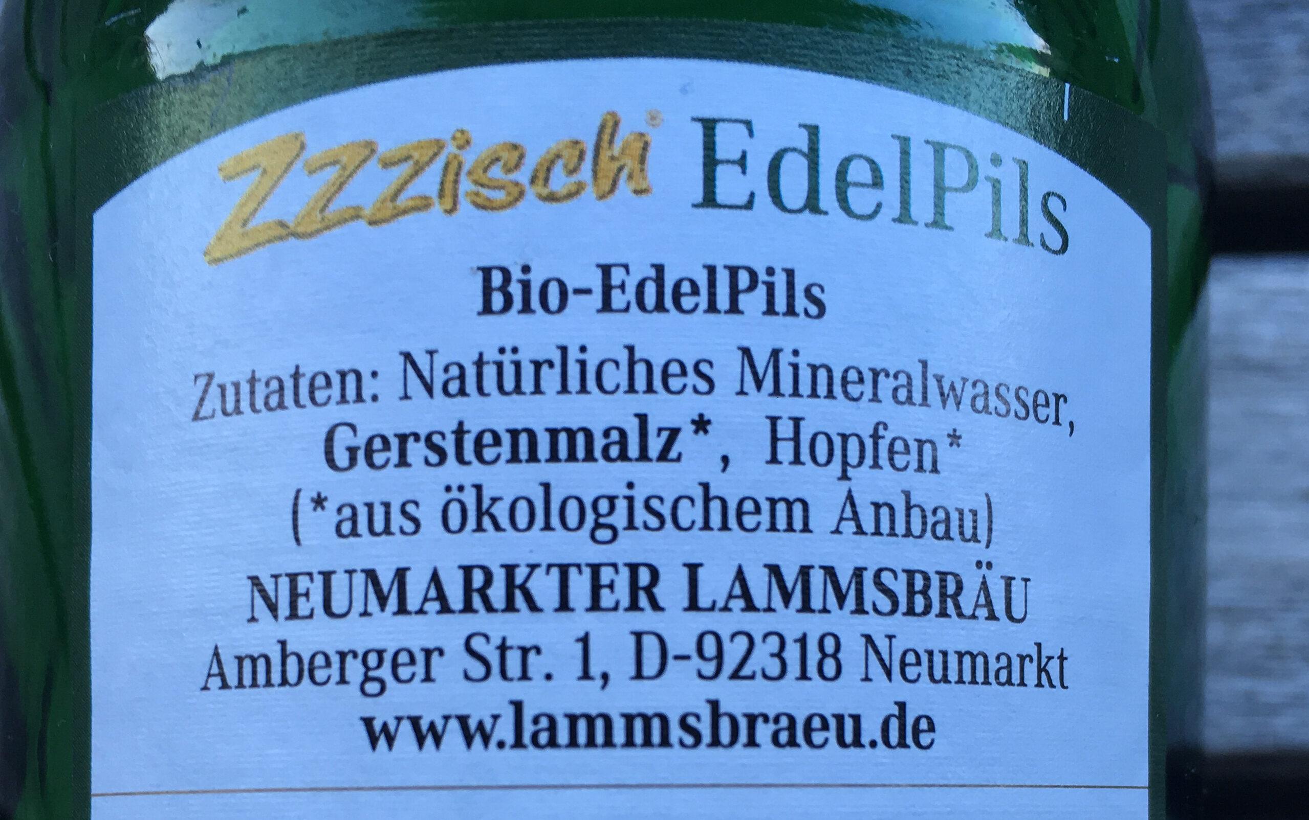 Biere Edel Pils Lammsbrau - Ingredients
