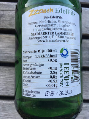 Biere Edel Pils Lammsbrau - Nutrition facts