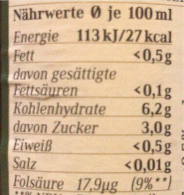 Dunkle Weiße alkoholfrei - Nutrition facts - de