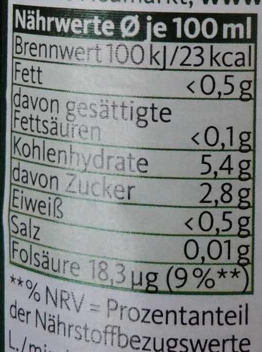 Neumarkter Lammsbräu alkoholfrei - Nutrition facts