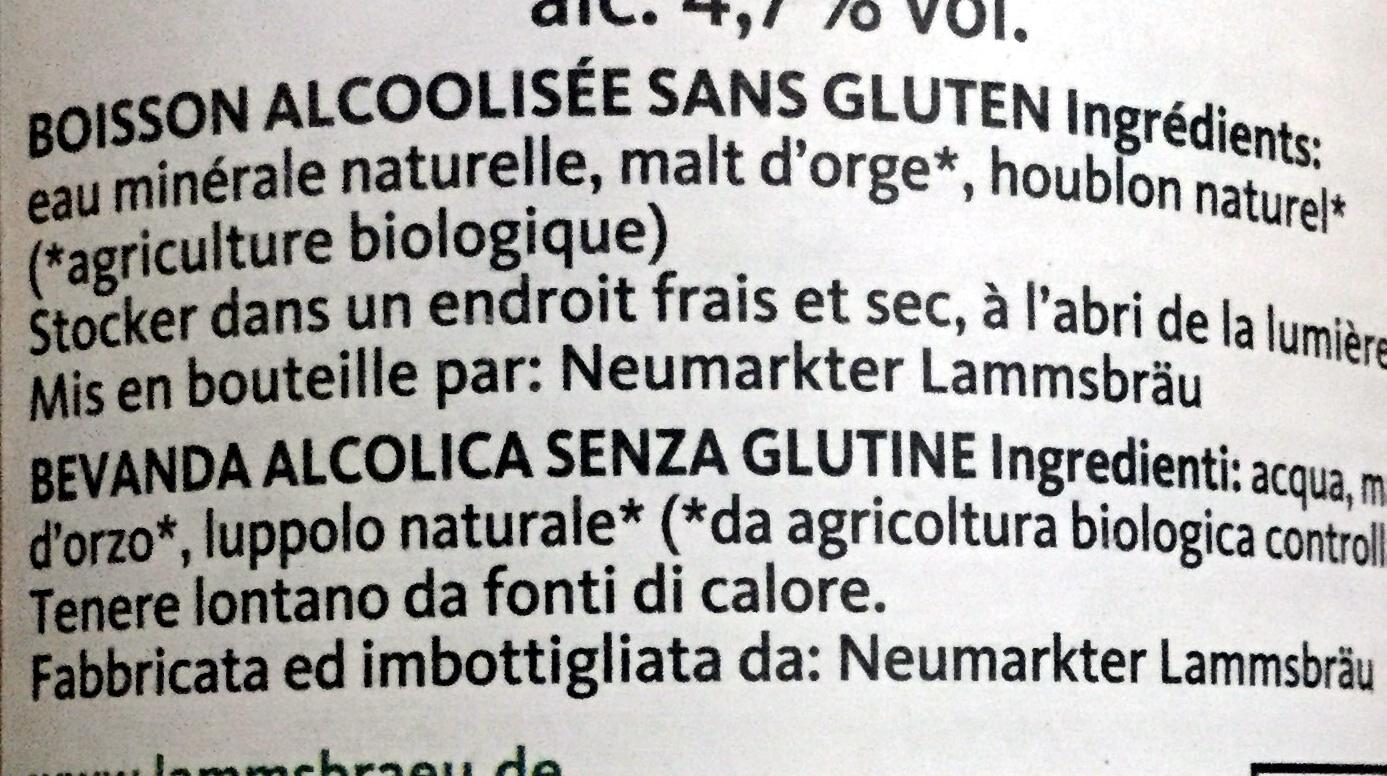 Neumarkter Lammsbräu Glutenfrei - Ingrédients
