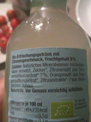 Now Fresh Lemon - Zutaten - de
