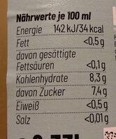 Now Fresh Lemon - Nährwertangaben - de